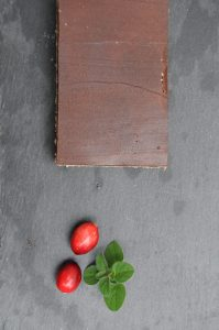 lingonberry layered cookie on the cutting board