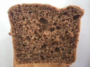 dark bread cross cut