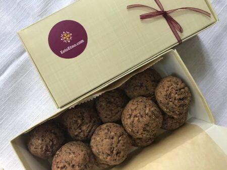 hazelnut chocolate cookie box