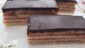 layered cake slice