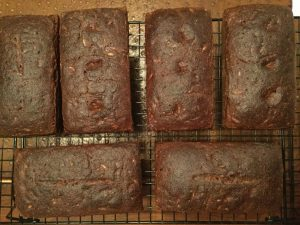 six small rye bread loaves