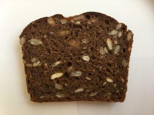 seeded rye sourdough slice